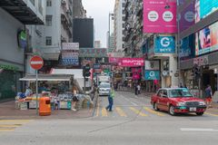 Sai Yeung Choi Street Arkivfoton