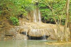 Sai Yok Noi vattenfall Arkivfoton