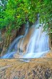 Sai Yok Noi vattenfall i Thailand Fotografering för Bildbyråer