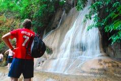 Sai Yok Noi Wasserfall Stockbild