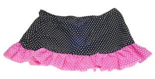 Saia cor-de-rosa e preta do ponto de polca imagens de stock royalty free