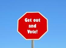 Saia e vote Imagem de Stock