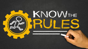 Saiba as regras foto de stock royalty free