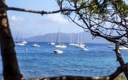 Saiboats przy kotwicą Zdjęcie Stock
