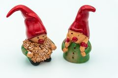 Christmas elves or Christmas Gnomes stock image