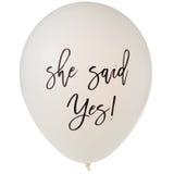 She said yes balloon Royalty Free Stock Image