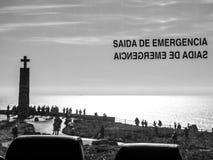 Saida de Emergencia (nöd- utgång) Arkivbild