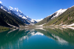Saiful Malook See, Kaghan Valley, Pakistan. lizenzfreie stockfotos