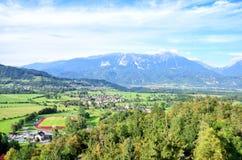Saigné et montagnes, Slovénie Images libres de droits