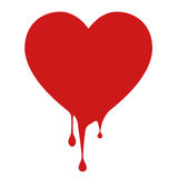 Saignement d'icône d'amour Image libre de droits