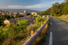 Saignon village at sunset, Provence, France Royalty Free Stock Photo