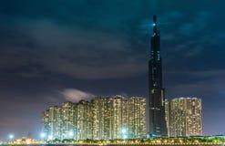 Saigon/Βιετνάμ, τον Ιούλιο του 2018 - το ορόσημο 81 είναι ένας έξοχος-ψηλός ουρανοξύστης αυτήν την περίοδο κάτω από την κατασκευή στοκ φωτογραφία με δικαίωμα ελεύθερης χρήσης