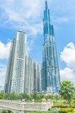 Saigon/Βιετνάμ, τον Ιούλιο του 2018 - το ορόσημο 81 είναι ένας έξοχος-ψηλός ουρανοξύστης αυτήν την περίοδο κάτω από την κατασκευή στοκ εικόνες με δικαίωμα ελεύθερης χρήσης