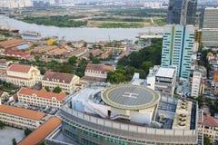 Saigon aerial, Vietnam Stock Image