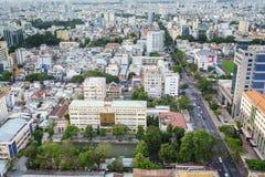 Saigon aerial, Vietnam Royalty Free Stock Image