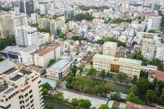 Saigon aerial, Vietnam Royalty Free Stock Photos