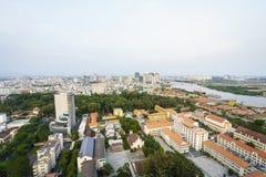 Saigon aerial, Vietnam Stock Photography