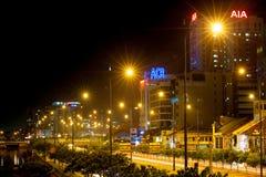 Saigon alla notte Fotografia Stock