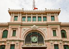 Saigon Central Post Office (1891). Ho Chi Minh city, Vietnam Stock Images