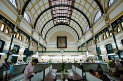 Saigon Central Post Office, Vietnam Royalty Free Stock Images