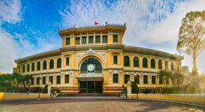 Saigon Central Post Office, Vietnam. Panorama. Saigon Central Post Office in the downtown Ho Chi Minh City, Vietnam. Panorama stock image