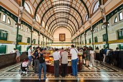 Saigon central stolpe - kontor, Ho Chi Minh Arkivbilder