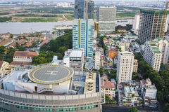 Saigon city, Vietnam. Very high resolution, 42.2 megapixels. Ho Chi Minh City formerly named Saigon, is the largest city in Vietnam. Urban Development or the royalty free stock photo