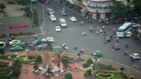Saigon downtown traffic,vietnam. Day time stock video