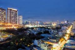 Saigon en la noche Fotos de archivo libres de regalías