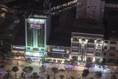 Saigon en la noche (Ho Chi Minh City) Imágenes de archivo libres de regalías