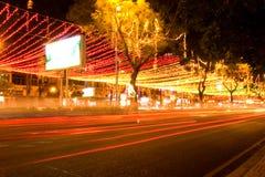 Saigon entro Night immagini stock libere da diritti