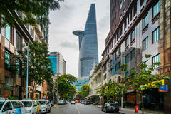 Saigon finacial tower Royalty Free Stock Images