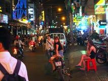 Saigon Ho Chi Minh City bij nacht vietnam Royalty-vrije Stock Foto's