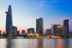 SAIGON (HO CHI MINH STADT), VIETNAM - JANUAR 2014 Stockbild