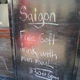 Saigon menu Stock Images
