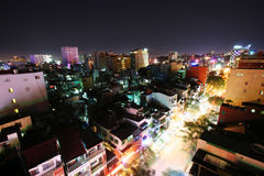 Saigon night Royalty Free Stock Photo