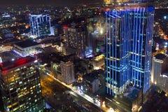 Saigon night cityscape Stock Images