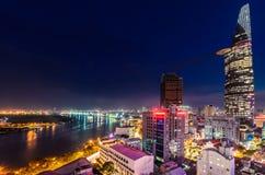 Saigon Night Stock Photography