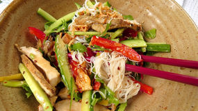 Saigon noodle salad Royalty Free Stock Images