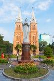 Saigon Notre Dame Basilica en Tet Fotos de archivo libres de regalías
