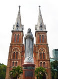 Notre Dame Cathedral with white sky, Ho Chi Minh City, Vietnam Royalty Free Stock Photo