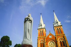 Saigon Notre-Dame Basilica in Vietnam Royalty Free Stock Image