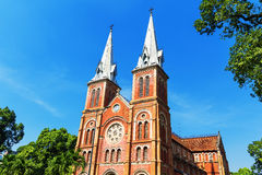 Saigon Notre Dame Cathedral Basilica Royalty Free Stock Images