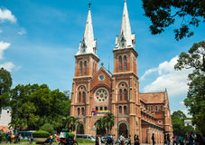 Saigon Notre-Dame Cathedral Basilica in Ho Chi Minh, Vietnam Stock Photography