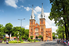 Saigon Notre-Dame Cathedral Basilica, Ho Chi Minh, Vietnam Royalty Free Stock Photos