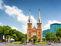 Saigon Notre-Dame Cathedral Basilica in Ho Chi Minh, Vietnam Stock Images