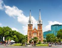 Saigon Notre-Dame domkyrkabasilika i Ho Chi Minh, Vietnam Arkivbilder