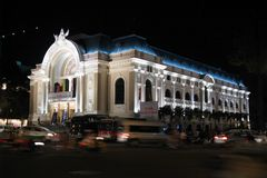 Saigon Opera House. Also known as Municipal Theatre of Ho Chi Minh City, this opera house is an example of French Colonial architecture in Vietnam. Built in 1897 stock photos