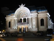 Saigon Opera House. Also known as Municipal Theatre of Ho Chi Minh City, this opera house is an example of French Colonial architecture in Vietnam. Built in 1897 royalty free stock image