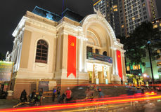 Saigon Opera House building at night Stock Images